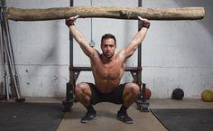 Rich Froning Deep Overhead Squat w/ a Log