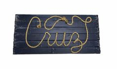 Cruz 32 Western Rope Name Sign Cowboy Theme Room by RopeAndStyle Colored Rope, Cowboy Theme, Name Signs, Bar Mitzvah, Unique Jewelry, Handmade Gifts, Room, Etsy, Kid Craft Gifts