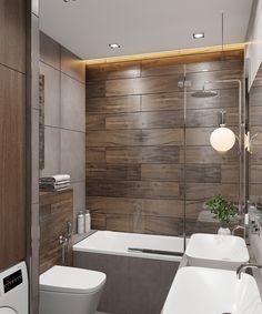 Bathroom Feature Wall, Master Bathroom, Wardrobe Room, Purple Kitchen, Contemporary Bathrooms, Modern House Design, Bathroom Interior, Home Fashion, New Homes