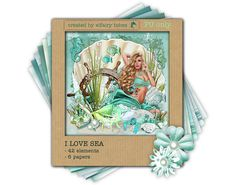 I Love Sea Digital scrapset