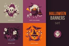 Halloween Vector Clip Art Set by kotoffei on @creativemarket (promoted)