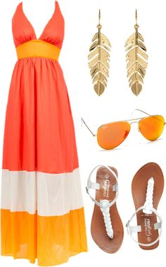 """Maxi Dress Simpl Summer Outfit"" by natihasi on Polyvore"