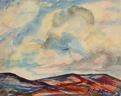 """""""Clouds Over Sangre de Cristo,"""" Alfred Morang, watercolor on paper, 10 1/2 x 13 1/2"""", private collection."""
