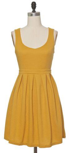 Trendy and Cute dresses - Ya Los Angeles - Knit Mustard Dress - chloelovescharlie.com | $43.00