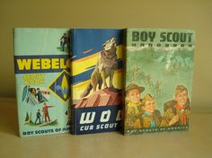 Boy Scout Webelos Cub Scout vintage book set 1960s