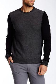 Contrast Sleeve Wool Sweater