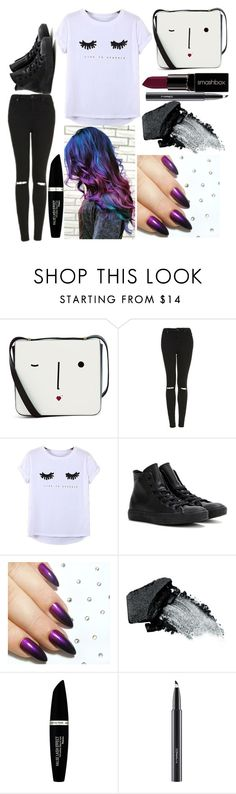 """""""Danny: May 15, 2016"""" by disneyfreaks39 ❤ liked on Polyvore featuring Lulu Guinness, Topshop, Chicnova Fashion, Converse, Gorgeous Cosmetics, Max Factor, MAC Cosmetics and Smashbox"""