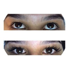 Before and After Full Lash Set