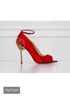حذاء أحمر بكعب ذهبي من تصميم زهير مراد مجموعة 2014 #زهير_مراد