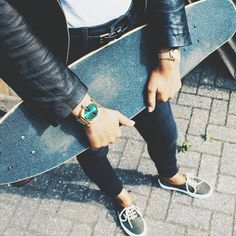 @watchwarehouse - Nixon Time Teller and Small Time Teller in Gold - Skateboard - Nixon Watch
