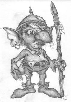 Goblin Drawings | goblin by richardsymonsart traditional art drawings fantasy 2007 2014 ...