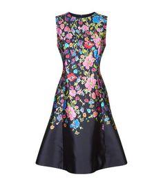 Oscar De La Renta Woman Floral-print Cotton-poplin Dress Fuchsia Size 6 Oscar De La Renta 9R983vyyGw