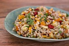 Fall Israeli Couscous Salad with Apples from www.theorganickitchen.org