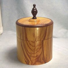 Osage Orange Turned Lidded Box