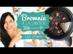 ESPECIAL VÍDEO 100   BROWNIE SARTEN EN 8 MIN   FÁCIL Y SALUDABLE - YouTube