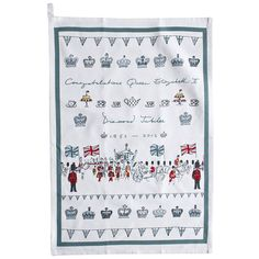 diamond jubilee tea towel by sophie allport | notonthehighstreet.com