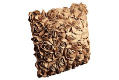Roses 20x20 Pillow, Camel on OneKingsLane.com  Looks like burlap anyway!