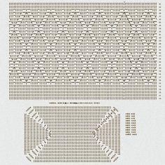 Crochet Basket Pattern, Crochet Diagram, Crochet Chart, Bead Crochet, Filet Crochet, Diy Crochet, Crochet Patterns, Crochet Wallet, Crochet Backpack