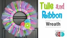 how to make a tulle and ribbon wreath - YouTube