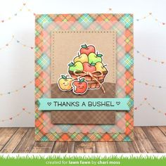 Lawn Fawn Intro: Thanks a Bushel, Cutie Pie | the Lawn Fawn blog | Bloglovin'