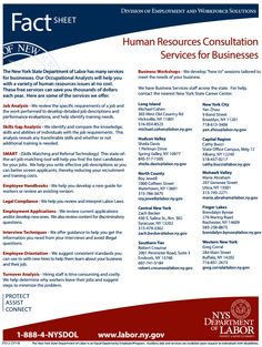 The New York State Department of Labor can provide HR services for your small business, free of charge! Visit http://labor.ny.gov/formsdocs/factsheets/pdfs/p312.pdf to learn more.