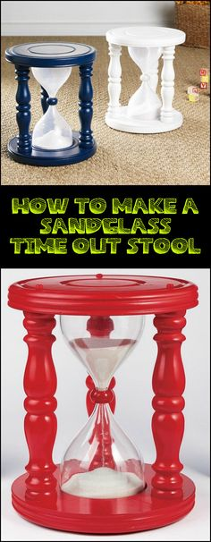 You can make time sandglass time out stool using a recycled plastic bottle. What do you think?