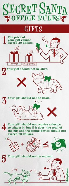 Secret Santa: Office Rules - HAHA!  They told me I'm hosting the party this year - should I post up these rules?!