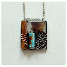 In the Woods necklace by 6shadowsjewelry on Etsy, $318.00