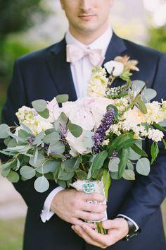 Wild Flower Wedding Bouquet | Eucalyptus Wedding Bouquet | Brooch on Bouquet | Groom Holding Bouquet | Julie Wilhite Photography | Austin Wedding Photography | Barr Mansion Wedding | Austin Wedding Photographer | Wedding Details | Wedding Florals | via @juliewilhite + juliewilhite.com