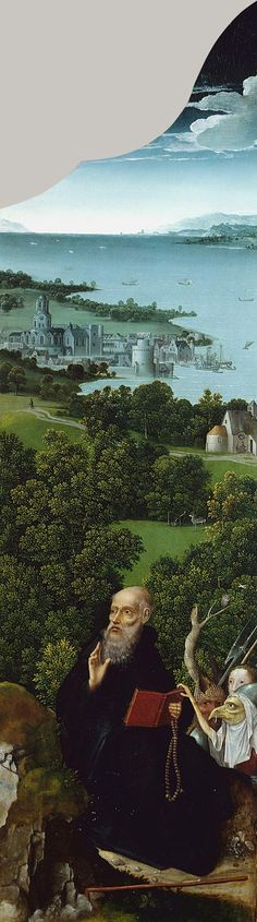 Joachim Patinir, Detail, Triptych depicting the Penitence of Saint Jerome, Netherlandish, c. 1518
