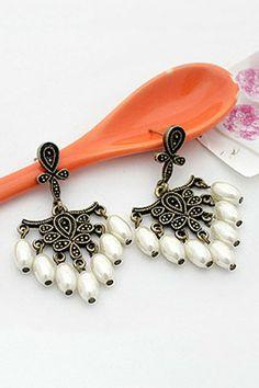 Retro Sweet Pearl Tassels Earrings OASAP.com
