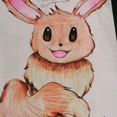 Eevee✨💖my favorite pokémon❤finalized✅ Insta: @art.bellaa https://www.instagram.com/p/BI3nNvPgKdy/ #eevee #drawing #finalized #pokémon #pokémongo