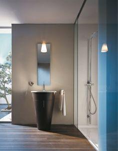 Duravit - Bathroom design series: Starck 1 - washbasins, toilets, bidets, urinals, bath room furniture and accessories from Duravit.