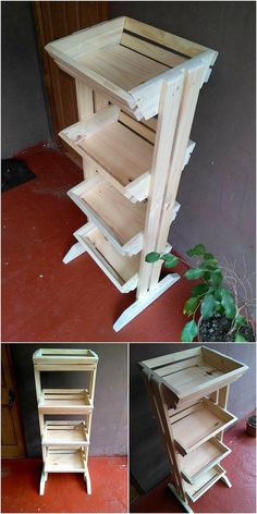This is much a innovatively designed piece of the wood pallet fruit and vegetable rack for your house use. This fruit and vegetable rack has been style up with the designing of the shelving portions that gives out a very attractive and different look. You should try to place this wood pallet amazing fruits and vegetable rack in your house right now!