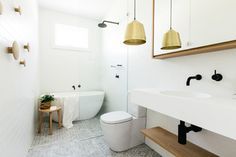 Cross St - contemporary - Bathroom - Other Metro - Caroline McCredie