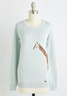 Tall Things Considered Sweater  The facts are in - this mist pullover from Sugarhill Boutique has everything you seek in a sweater! Inspired by the founding siblings travels, this top stars an adorable intarsia giraffe woven into its super soft knit, ending your search for the perfect safari-influenced piece. The post  Tall Things Considered Sweater  appeared first on  Vintage & Curvy .  http://www.vintageandcurvy.com/product/tall-things-considered-sweater