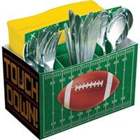 Football Paper Utensil Caddy - Party City