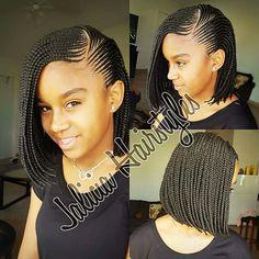 Braid Styles for Long Hair Black Girl Braids, Braids For Black Hair, Girls Braids, African Braids Hairstyles, Braided Hairstyles, Black Hairstyles, African Hair Braiding, African Braids Styles, Hairstyles 2018