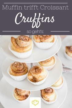 Wenn Muffin Croissant küsst, entsteht eine wunderbar knusprige Leckerei! Taufen wir sie: Cruffins! :)