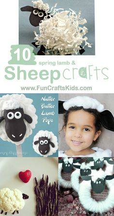 10 Spring Lamb and SHEEP CRAFTS FOR KIDS Spring has sprung, and the lambs are frolicking in the fields - so it's time to get crafty! We really really love a farmyard craft, and lambs are just so cute, we…