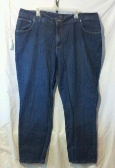 Womens Riders By Lee 26W Blue Jeans Plus Size  #Riders #StraightLeg