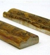 Multi Brown Onyx Chair Rail Decorative Crown Molding Trim Double Ogee 2 in. x 12 in.