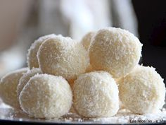Receta Postre : Trufas de chocolate blanco y coco por Lasrecetasdemasero