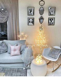 Add a bit of sparkle Home Living Room, Apartment Living, Living Room Decor, Home Interior, Interior Decorating, Interior Design, Dream Home Design, House Design, Home Decor Inspiration