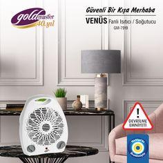 3 farklı fan ayarıyla, devrilme emniyetli GM-7919 Venüs Fanlı Isıtıcı/Soğutucu