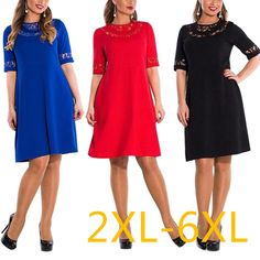 5XL 6XL Large Size  Summer Dress Big Size Sexy Lace Dress Blue Red Black Straight Dresses Plus Size Women Clothing Vestidos