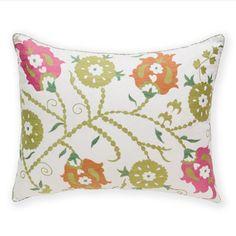 Madeline Weinrib Pink & Orange Sunder Suzani Pillow