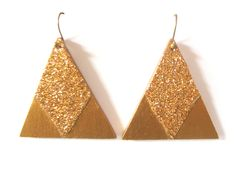 Boucles d'oreilles triangles glitters
