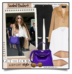 """Get the Look: Airport Style ( Izabel Goulart )"" by giovanadoll ❤ liked on Polyvore featuring Topshop, French Connection, Jimmy Choo, Fendi and 3.1 Phillip Lim"