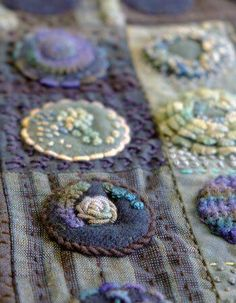 Wool Applique Patterns, Felt Applique, Quilt Patterns, Wool Embroidery, Embroidery Stitches, Wooly Bully, Wool Quilts, Wool Applique Quilts, Felt Art